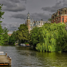 by Krasimir Lazarov - City,  Street & Park  Neighborhoods ( travel destination, amsterdam, cityscape, netherlands, city )