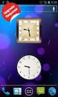 Screenshot of Android Clock Widget