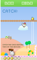 Screenshot of Falling Chicks - 8 bit