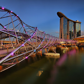 Helix Bridge by Ken Goh - Buildings & Architecture Bridges & Suspended Structures