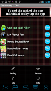 One Tap Task Killer Free - screenshot