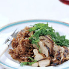 Drunken Risotto with Grilled Chicken