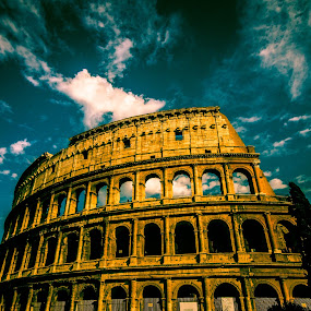 Finally there and in awe! by Ethan Fox Miles - Buildings & Architecture Public & Historical ( colosseum, must see, places to see before you die, best buildings, rome, buildings, historical, architecture, italy,  )
