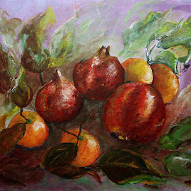 Fruit by Artica Arta - Painting All Painting ( nature art, fruits, painting,  )