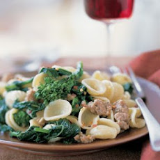 Quick Orecchiette with Broccoli Rabe and Sausage