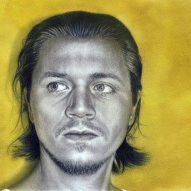 Golden Society - Mirror by Matthäus Rojek - Drawing All Drawing ( pencil, mirror, hyperrealism, golden society - mirror, people, golden, drawing, portrait )