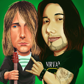 KURT COBAIN AND CHASE by Chase Alog - Painting All Painting