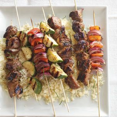 Lamb Kabobs with Pomegranate Glaze