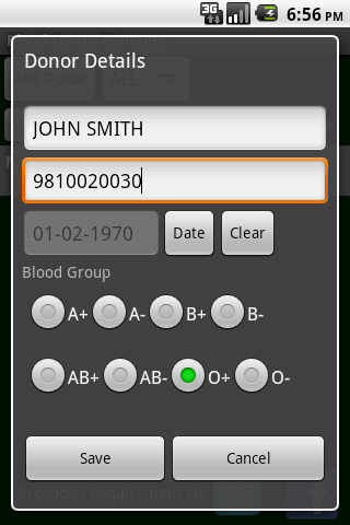 blood-donor-contact-manager for android screenshot