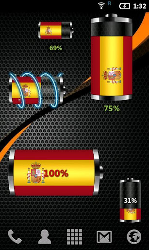 Spain: Flag Battery Widget