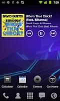 Screenshot of Clear Widgets UberMusic Skin