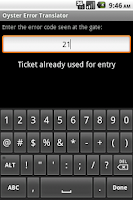 Screenshot of Ticket Gate Error Translator