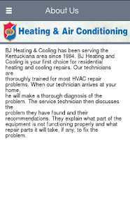 BJ Heating & Air Conditioning - screenshot