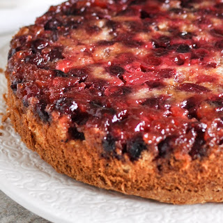 Holiday Upside-Down Cranberry Cake