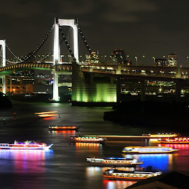 Rainbow Bridge @ Odaiba, Tokyo, Japan by Cristiano Michael - Buildings & Architecture Bridges & Suspended Structures