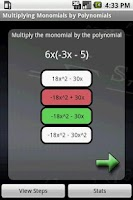 Screenshot of Algebra Tutor