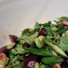 Edamame Salad With Baby Beets & Greens