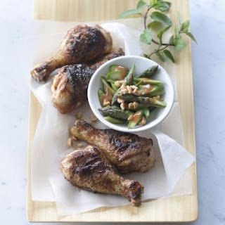 Berbere Spiced Drumsticks with Asparagus-Peanut Slaw