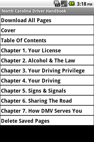 North Carolina Driver Handbook
