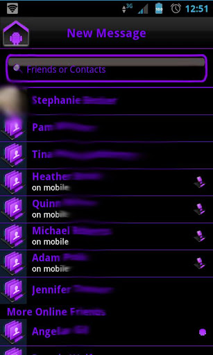 Purple Socialize 4 FB Messenge - screenshot