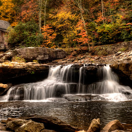 glade creek mill by Steven Faucette - Buildings & Architecture Public & Historical ( water, mountains, glade creek mill, west virginia, fall, babcock )