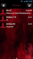 Screenshot of GO SMS Evil Red Theme
