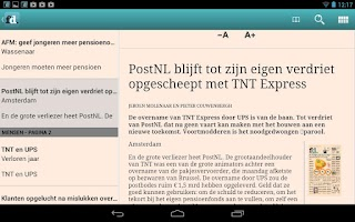 Screenshot of FD e-paper