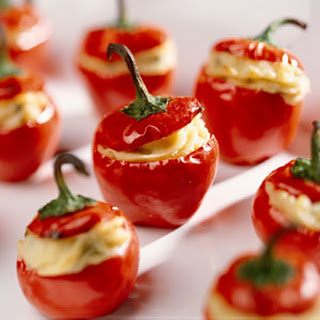 Fiery Stuffed Cherry Pepper Appetizers