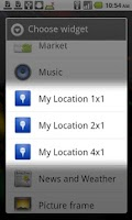 Screenshot of My Location Widget