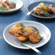 Grilled Apricots with Prosciutto