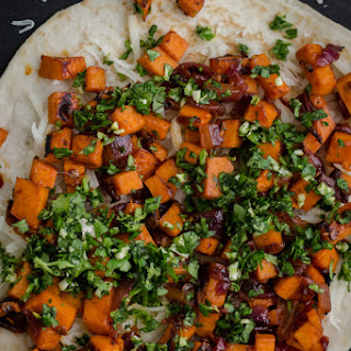 Chipotle Sweet Potato Quesadilla with Cilantro Gremolata