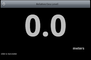 Screenshot of Altimeter Barometer