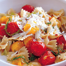 Farfalle with Wilted Frisée and Burst Tomatoes
