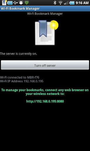 Wi-Fi Bookmark Manager