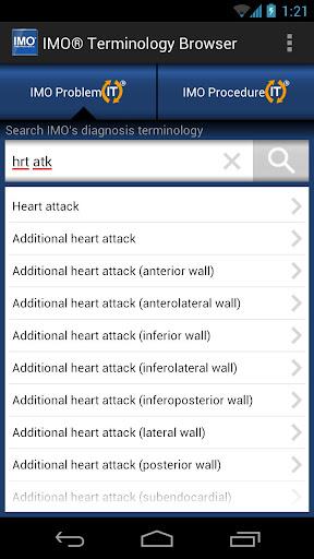IMO Terminology Browser - screenshot