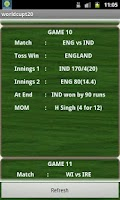 Screenshot of T20 CWC