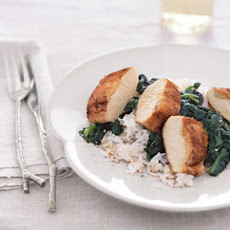 Ginger-Stuffed Chicken with Sesame Spinach