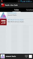 Screenshot of Abu Dhabi Radio