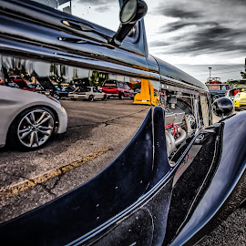 Car Show Reflection by Ron Meyers - Transportation Automobiles