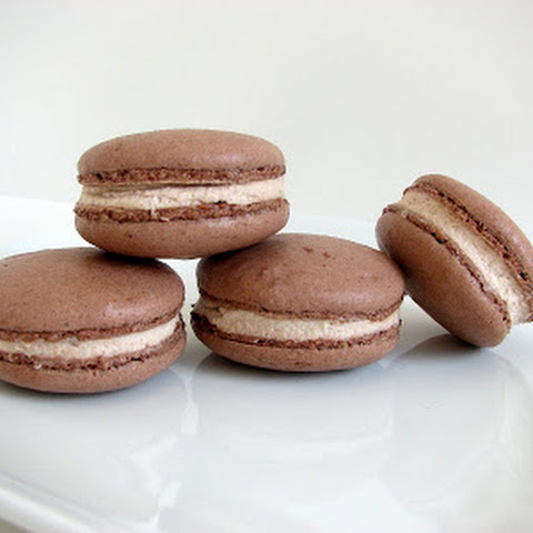 Chocolate Macarons with Nutella Whipped Cream