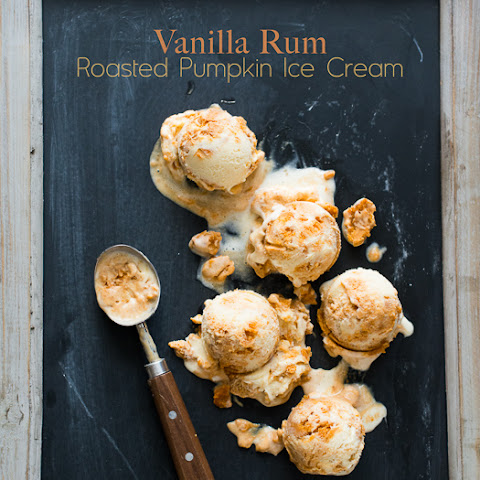 Vanilla Rum Roasted Pumpkin Ice Cream