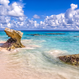 Rocks and blue waters by Giancarlo Bisone - Landscapes Waterscapes ( water, blue, beach, bermuda, rocks )