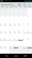 Screenshot of Calendar Droid Free