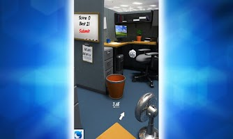 Screenshot of Paper Toss with Mobage