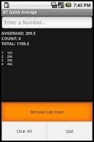Screenshot of BT Quick Average