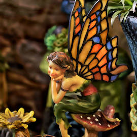 Garden Fairy by Mill Tal - Artistic Objects Still Life