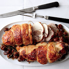 Boudin Blanc-Stuffed Turkey Breasts with Chestnuts