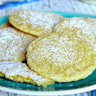Thin and Chewy Lemon Cookies