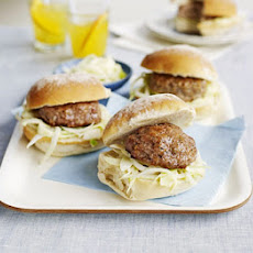 Pork & Fennel Burgers With Fennel Slaw