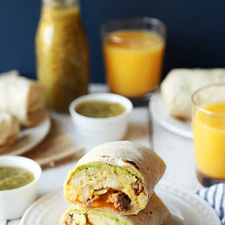 Steak and Avocado Breakfast Burritos